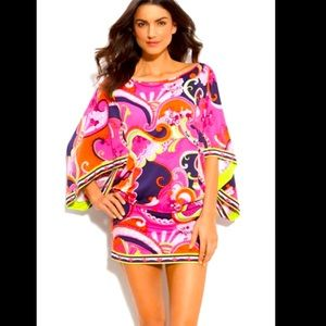 Trina Turk Tunic French Riviera Colorful Size Small Cover Up